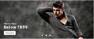Flipkart men's Winter Wear Sale  get Upto 70% Off