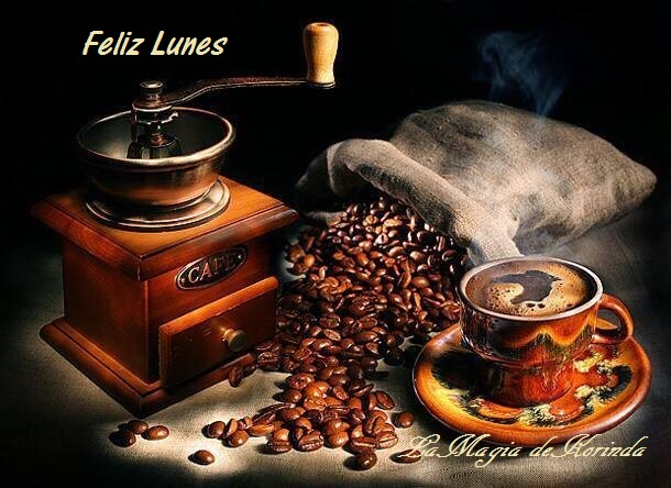 Resultado de imagen de imagenes de feliz lunes con cafe