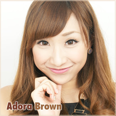 Adora Brown Contact Lenses at ohmylens.com