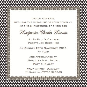 Luxury Baptism Invitations for adorable invitations sample