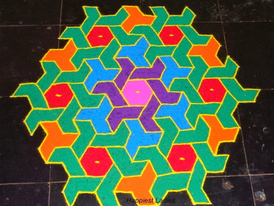 colorful rangoli design