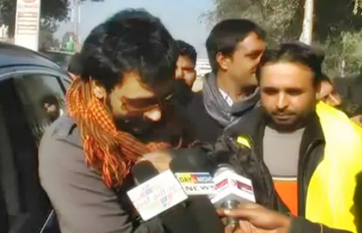 Babbu Maan During Bhagwant Mann Rally   Punjab Elections 2012news