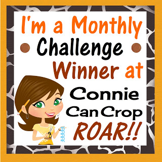 I was a Monthly Challenge Winner