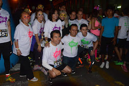 Gran éxito de participación en carrera nocturna The Glow Run 5k