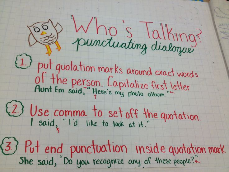 rules for dialogue in essays