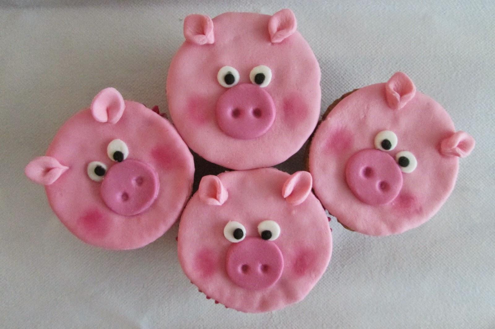 cupcakes-cochinitos-platano-rosa