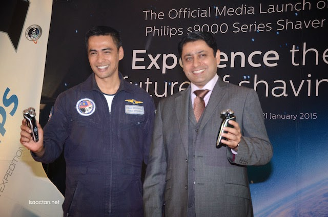 Philips Shaver Series 9000 even had the presence of Dr. Sheikh Muszaphar Shukor, Malaysia's First Astronaut