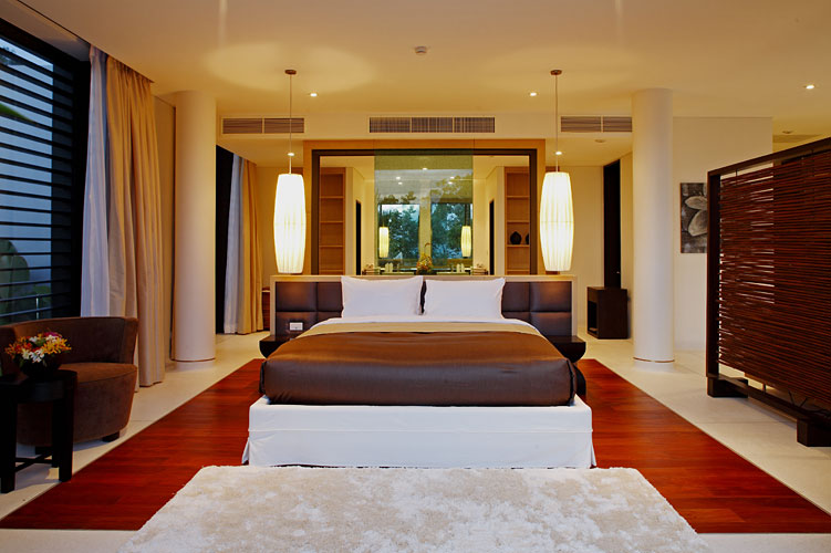 Photo of modern thai bedroom in modern villa