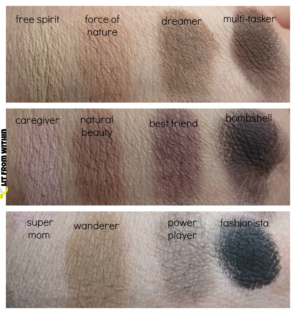 Tartlette swatches on ELF lid primer