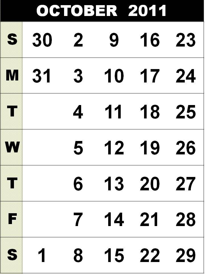 october calendar 2011. calendar+october+2011