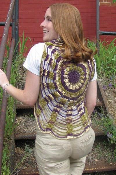 Crochet Circle Pattern Vest Free Crochet Pattern