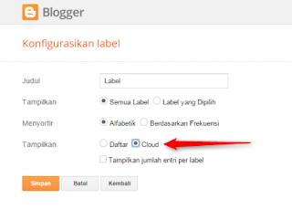 Cara Memasang Widget Label Cloud Paling Ringan Untuk Blogger