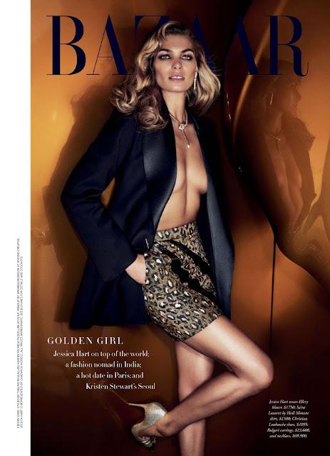Model @ Jessica Hart - Harper's Bazaar Australia, October 2015