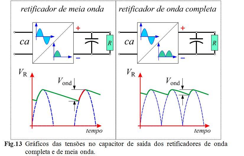 Circuito Retificador : EletrÔnica do papai noel filtro capacitivo