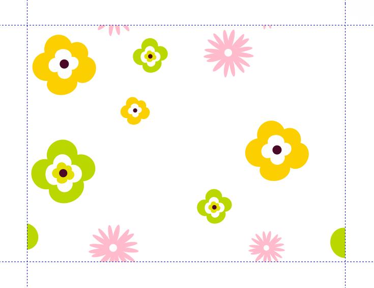raport nadruku - kwiatki