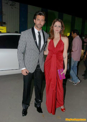 Hrithik Roshan and Suzanne arrive for the Filmfare Awards at Yash Raj Studio Mumbai_FilmyFun.blogspot.com