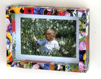Sun Hats & Wellie Boots: Decoupage Picture Frame - Using Magazines