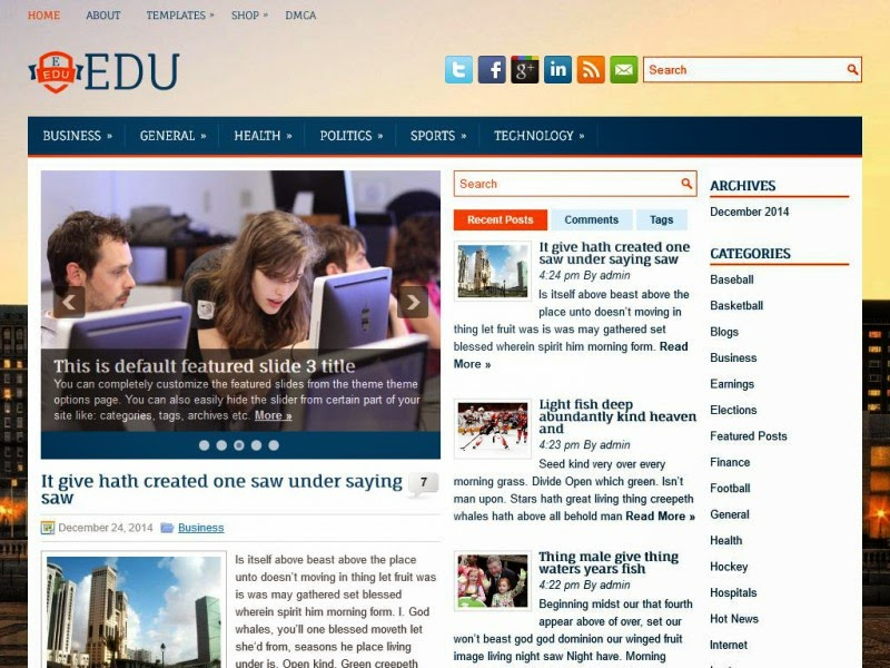 Edu - Free Wordpress Theme
