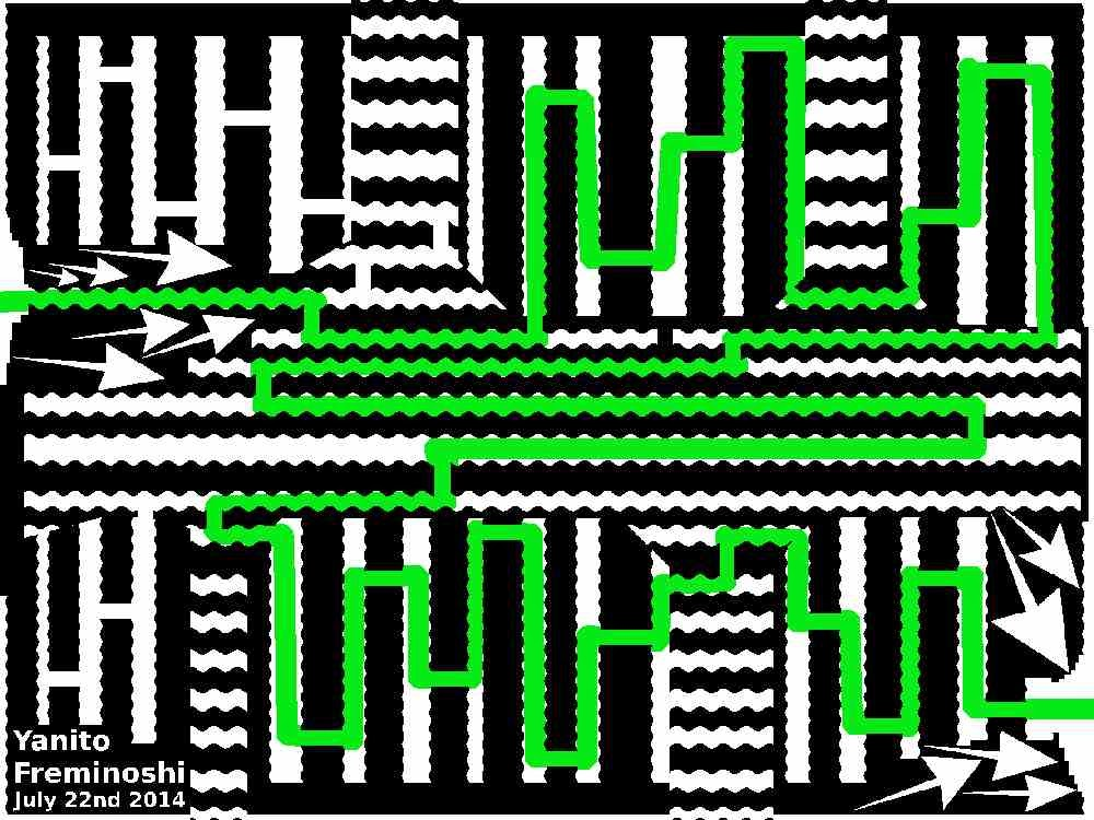 Maze solution tooth chattering maze
