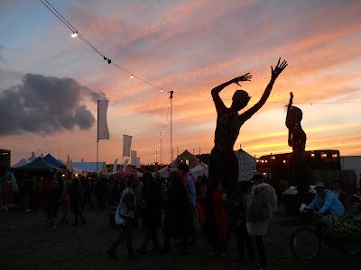 dusk at the festival