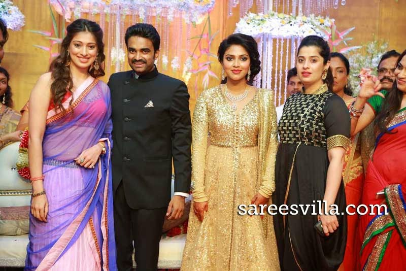 Celebs at Amala Paul and Director Vijay Wedding Reception