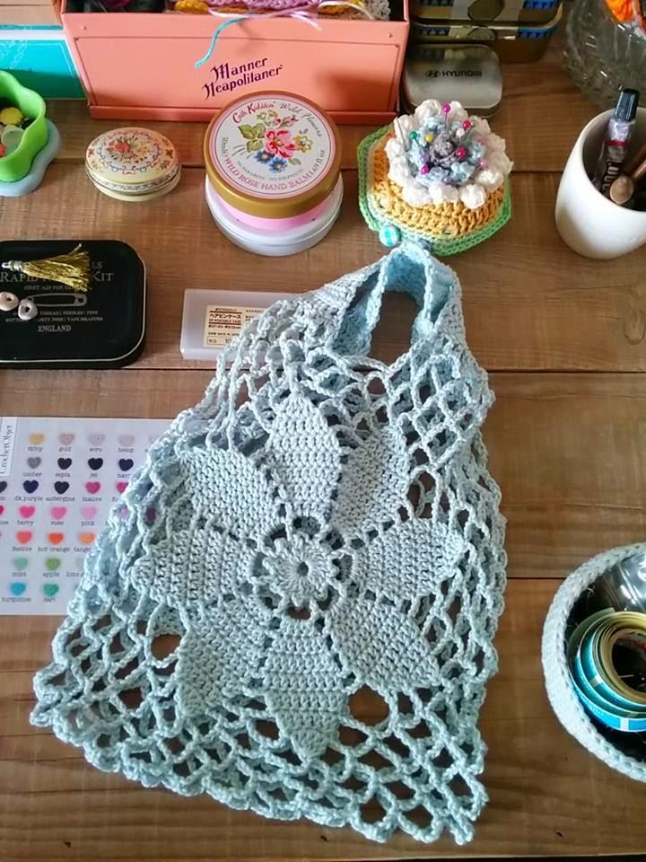 Bolsa para compras tejida al crochet | Crochet y Dos agujas ...