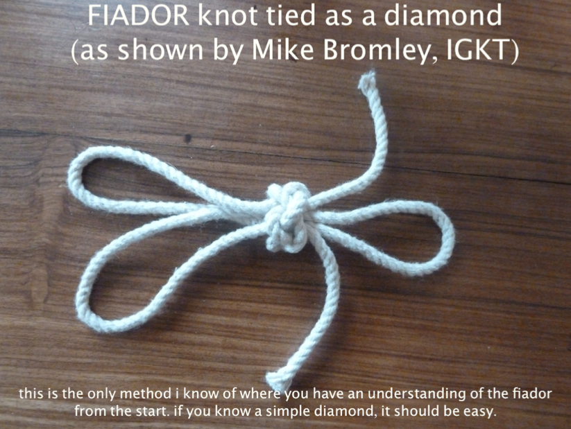 how to make a rope halter with fiador knot
