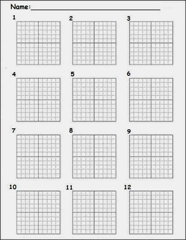 Graph Paper With Numbers Graph paper & number lines for