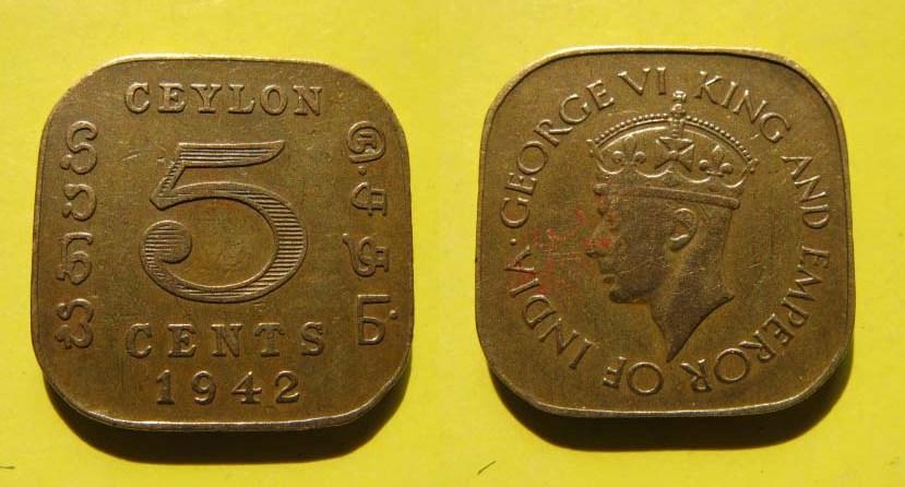 காசு,பணம்,துட்டு, money money.... - Page 3 Sri+Lanka+1944+5+Cents