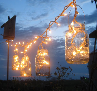 Craft Ideas August on Http   Www Etsy Com Listing 52651300 Mason Jar Party Lights 6 Upcycled