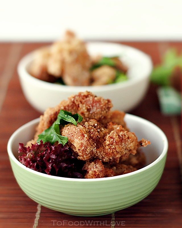 we used to order chicken karaage japanese seasoned fried chicken quite ...