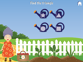 Grandma's Garden iPad / iPhone app, Shapes Mini Game