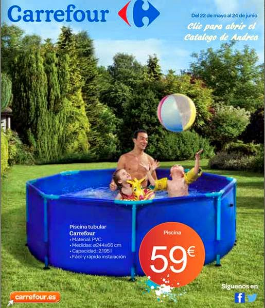Catalogo carrefour muebles y piscinas verano 2014 for Escaleras para piscinas desmontables carrefour