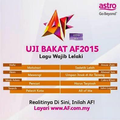 Lagu Wajib Untuk Peserta Uji Bakat Akademi Fantasia 2015