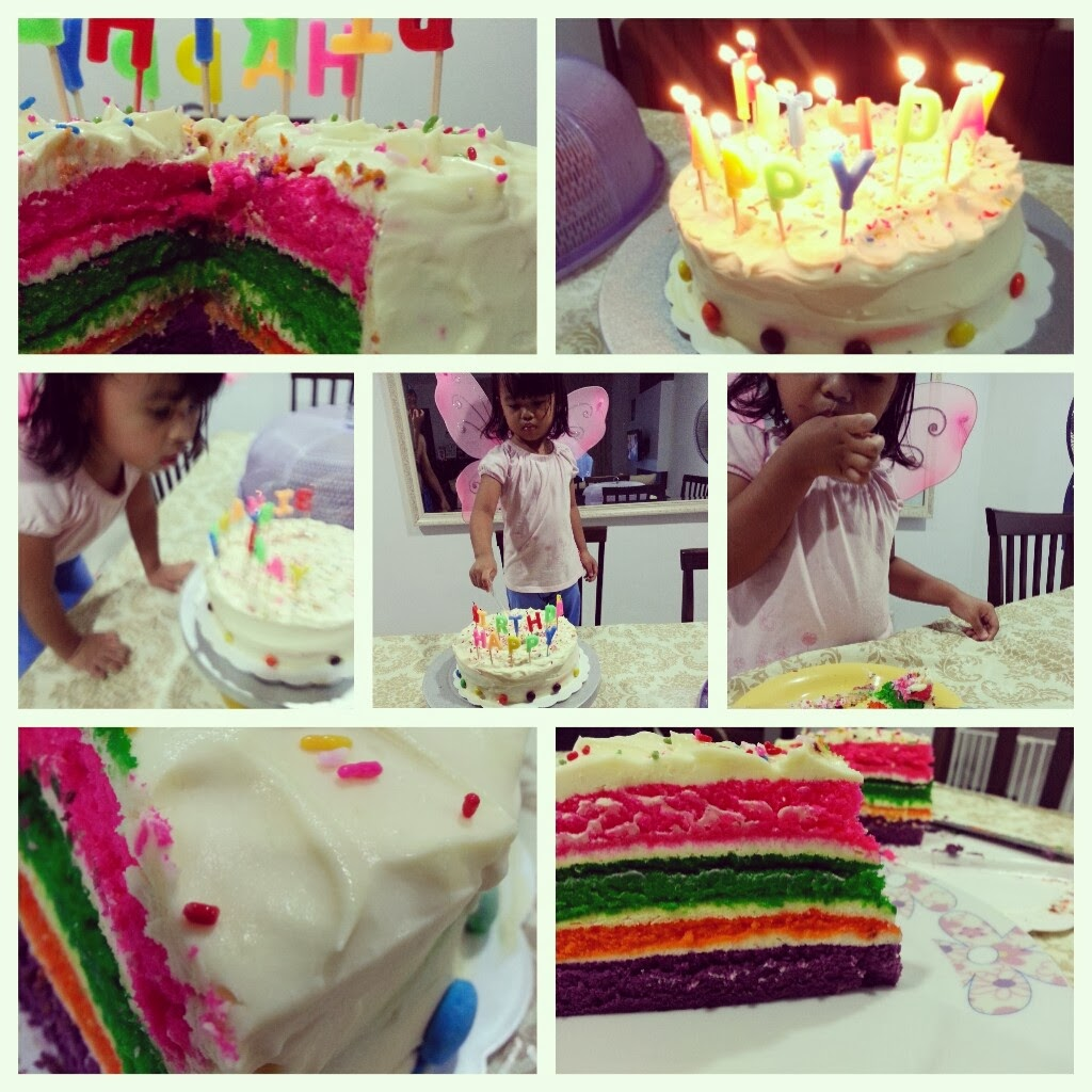 Good Morning Everyone Tunggu Aku : It s my life resepi rainbow cake yang sedap dan senang