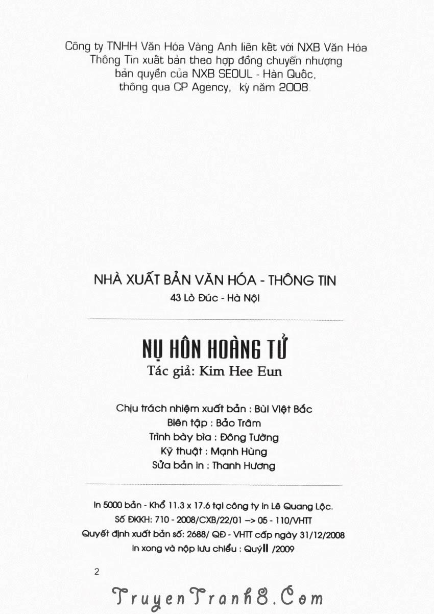A Kiss For My Prince - Nụ Hôn Hoàng Tử Chapter 17 - Trang 3