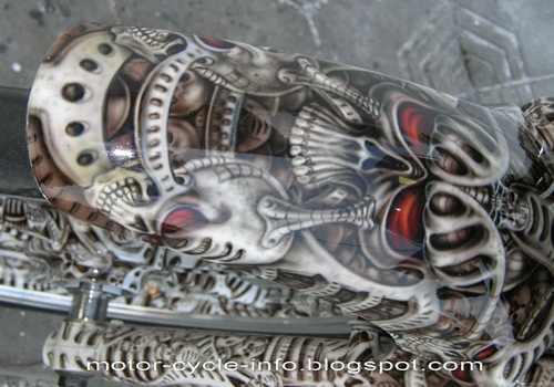 GAMBAR DAN FOTO DESAIN MODIFIKASI RX KING AIRBRUSH SKULL PAINTING ...