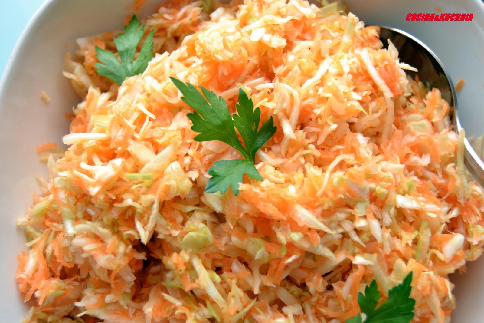 Cocina y kuchnia ensalada de repollo zanahoria y cebolla - Ensalada de apio y zanahoria ...