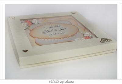 Cardmaking kartka sztalugowa składaczek wesele