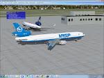 Em solo de Londres, VASP MD-11 PP-SPE