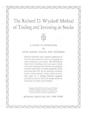Метод Торговли и Инвестирования в Акции. Ричард Вайкофф.