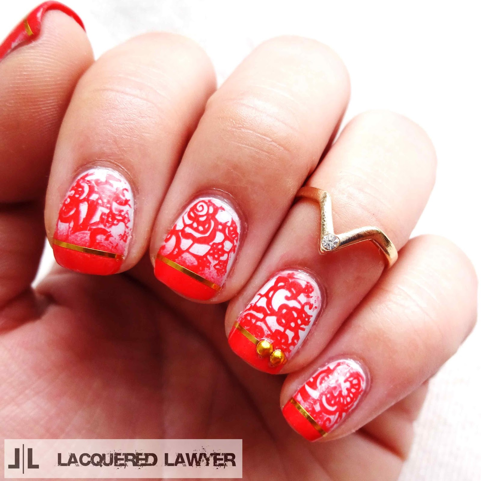 Floral Lace Nail Art