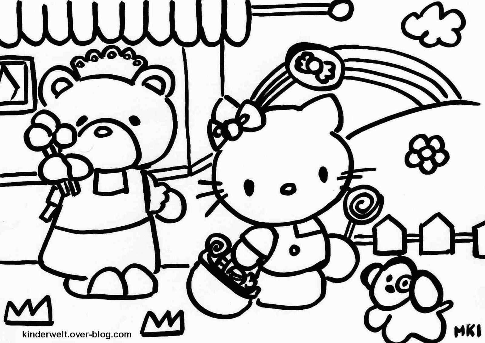Hello Kitty gratis-Malvorlagen  - Hello Kitty Ausmalbilder Gratis