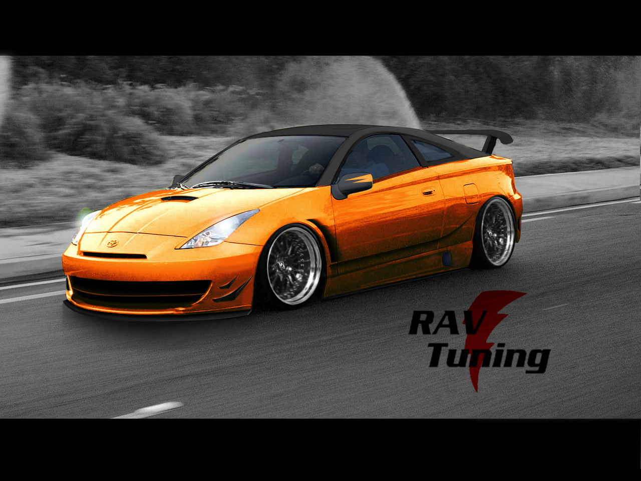 rav tuning toyota celica on fire. Black Bedroom Furniture Sets. Home Design Ideas