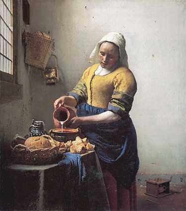 Johannes Vermeer Milkmaid