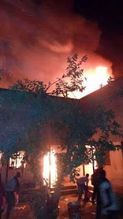 Sad: No Fire Service In Sight As Fire Razes Down Female Hostel At Abubakar Tafawa Balewa University (Photos)