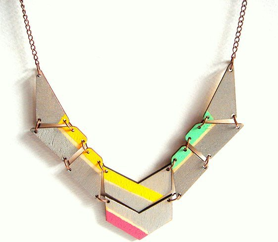 Fashionable And Funky Geometric Jewelry, 16 to 20 square wooden shapes which you can buy from a craft store or cut it out on your own to your choice Acrylic paints, Electric drill, Jump rings, Chain, Jewelry clasp and Pliers.One word that takes us back to school is geometry. Remember the circle, square, rectangular, diagonal, triangular drawings we all had to make and mug up to get good marks in the mathematics exam. Fashionable And Funky Geometric Jewelry, It's much the same in geometric jewelry too. With abstract influences and geometric inspirations, geometric jewellery designs are absolutely chic, trendy and with a mind of their own. All it needs is a bit of form and shape to turn an ordinary jewellery accessory into an artistic one., Fashionable And Funky Geometric Jewelry, The kind of options available in geometric jewelry is far too many. There are triangles, circles and guess what, there is three-dimensional geometric jewellery available too. All of them roll up their sleeves in helping you portray a unique appearance with dramatic lines and bold patterns.Fashionable And Funky Geometric Jewelry. Is geometric jewellery the new thing to watch out in the fashion radar? Well, it has been around since 1970s. Today, you can spot it out in rings, necklaces, earrings and bracelets in diverse shapes such as square, circle, hexagon, sphere, rectangle, trapeze, triangle. In fact, triangles have been going hot for quite some time. All in all, geometric jewellery designs are fresh, nostalgic, versatile and will have you swooning over them.Geometric Necklace, Geometric Rings, Geometric Earring.