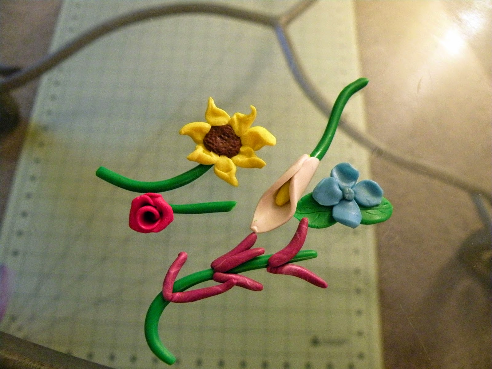 DIY 5 easy different polymer clay flowers