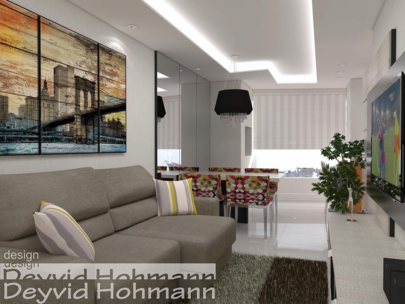 Deyvid Hohmann: Ambiente conjugado sala cozinha e lavanderia #966C35 1600 1200