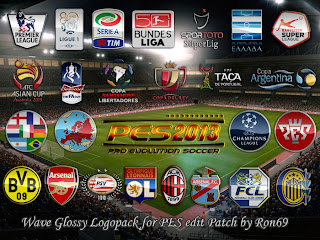 PES 2013 Wave Glossy Logopack for PESEDIT Patch 3.6 by Ron69